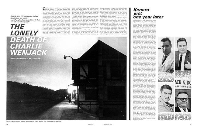 Article Preview: THE LONELY DEATH OF CHARLIE WENJACK, February 1967 | Maclean's