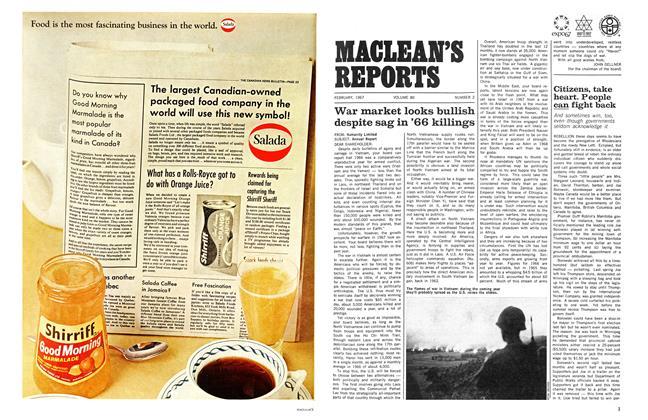 Article Preview: War market looks bullish despite sag in '66 killings, February 1967   Maclean's