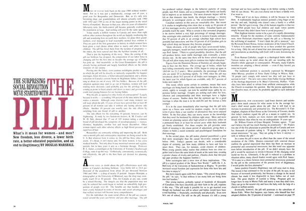 Article Preview: THE SURPRISING SOCIAL REVOLUTION WE'VE STARTED WITH THE PILL, March 1967 | Maclean's