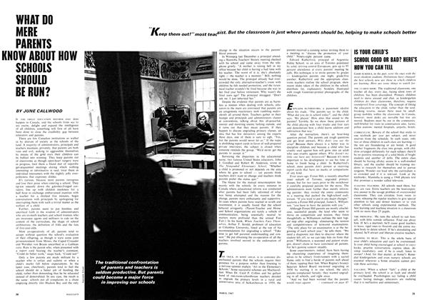 Article Preview: WHAT DO MERE PARENTS KNOW ABOUT HOW SCHOOLS SHOULD BE RUN?, March 1967 | Maclean's