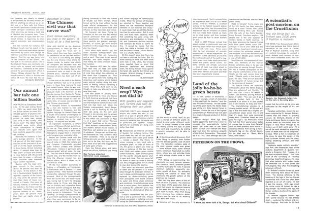 Article Preview: The Chinese civil war that never was?, March 1967 | Maclean's