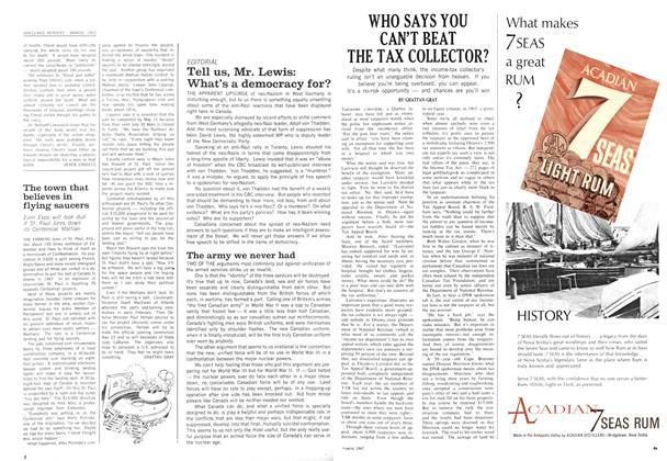 Article Preview: The town that believes in flying saucers, March 1967 | Maclean's