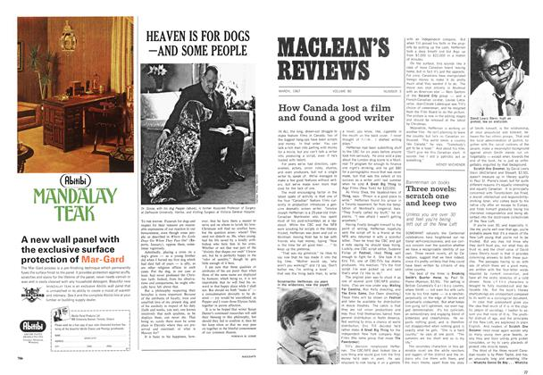 Article Preview: How Canada lost a film and found a good writer, March 1967 | Maclean's