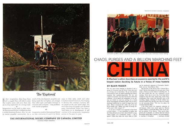 Article Preview: CHAOS, PURGES AND A BILLION MARCHING FEET CHINA, March 1967 | Maclean's