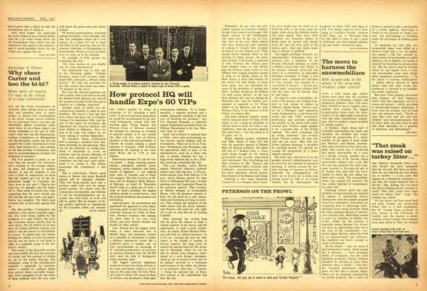 Article Preview: How protocol HQ will handle Expo's 60 VIPs, April 1967 | Maclean's