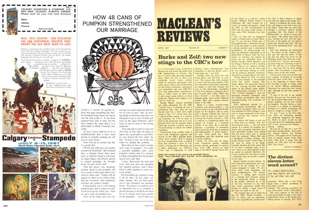 Article Preview: Burke and Zolf: two new stings to the CBC's bow, April 1967 | Maclean's