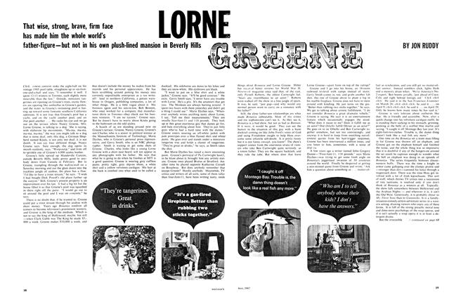 Article Preview: LORNE GREENE, May 1967 | Maclean's