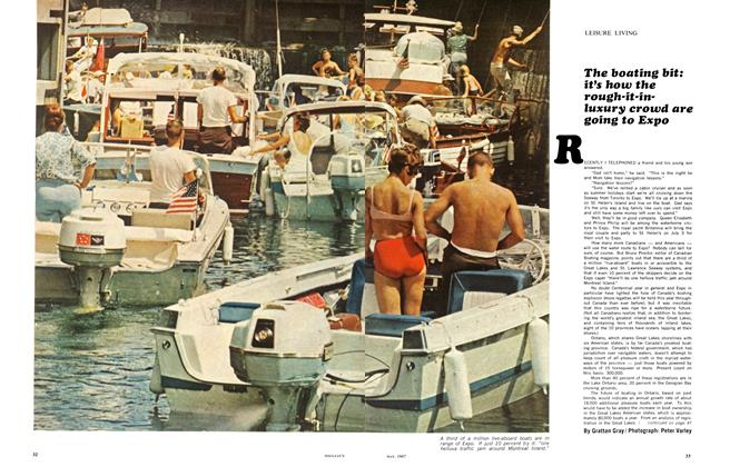 Article Preview: The boating bit: it's how the rough-it-in-luxury crowd are going to Expo, May 1967 | Maclean's