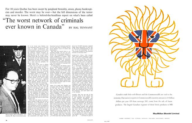 "Article Preview: ""The worst network of criminals ever known in Canada"", May 1967 