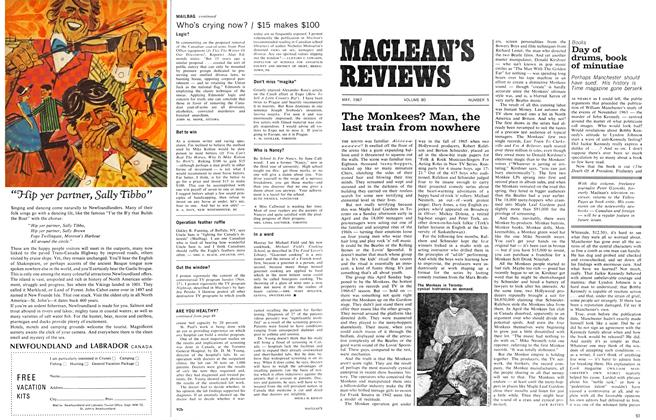 Article Preview: The Monkees? Man, the last train from nowhere, May 1967 | Maclean's