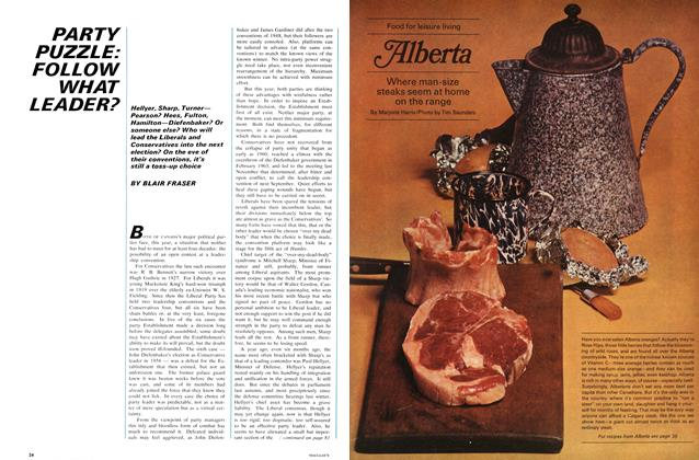 Article Preview: PARTY PUZZLE: FOLLOW WHAT LEADER?, June 1967 | Maclean's