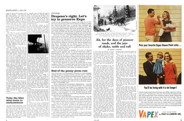 Article Preview: Ah, for the days of pioneer roads, and the joys of shake, rattle and roll, June 1967   Maclean's
