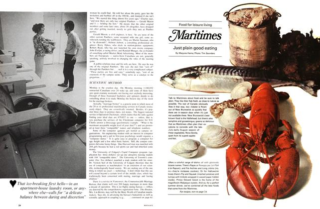 Article Preview: Food for leisure living Maritimes Just plain good eating, July 1967 | Maclean's