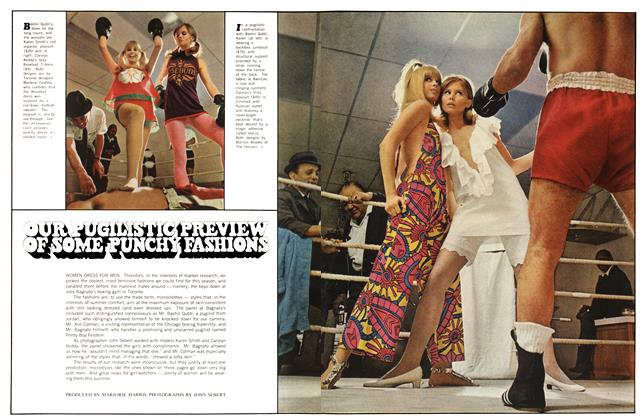 Article Preview: OUR PUGILISTIC PREVIEW OF SOME PUNCHY FASHIONS, July 1967 | Maclean's