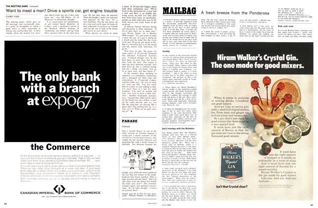 Article Preview: MAILBAG, July 1967 | Maclean's