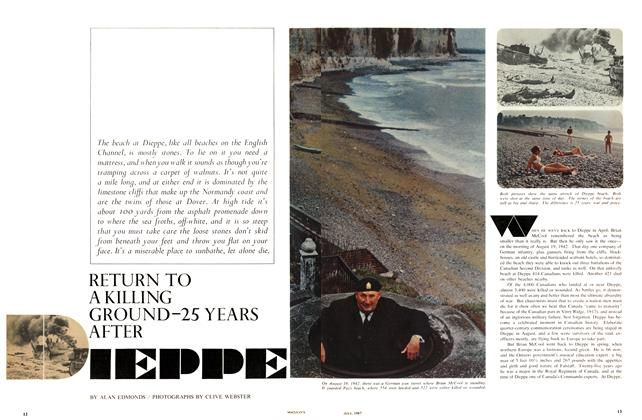 Article Preview: RETURN TO A KILLING GROUND-25 YEARS AFTER DIEPPE, July 1967 | Maclean's