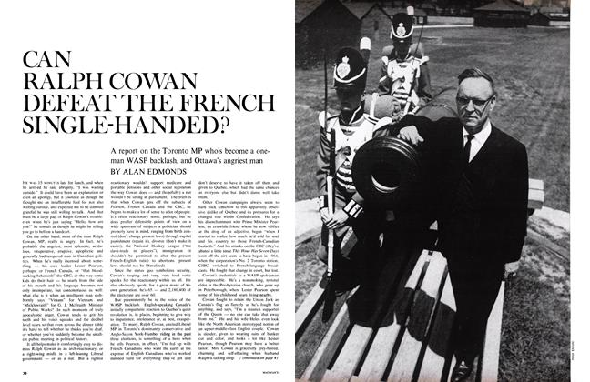 Article Preview: CAN RALPH COWAN DEFEAT THE FRENCH SINGLE-HANDED?, August 1967 | Maclean's