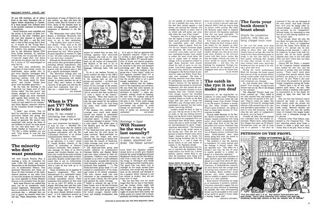 Article Preview: When is TV not TV? When it's in color, August 1967 | Maclean's