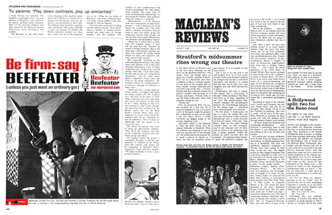 Article Preview: Stratford's midsummer rites wrong our theatre, August 1967 | Maclean's