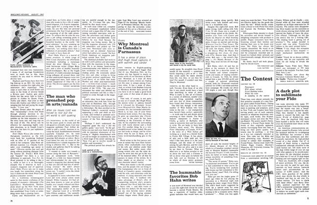 Article Preview: The hummable favorites Bob Hahn writes, August 1967 | Maclean's