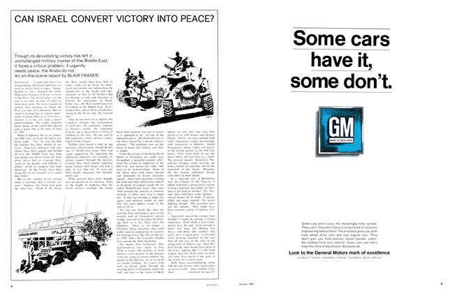 Article Preview: CAN ISRAEL CONVERT VICTORY INTO PEACE?, August 1967 | Maclean's
