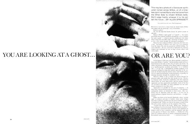 Article Preview: YOU ARE LOOKING AT A GHOST... OR ARE YOU?, September 1967 | Maclean's