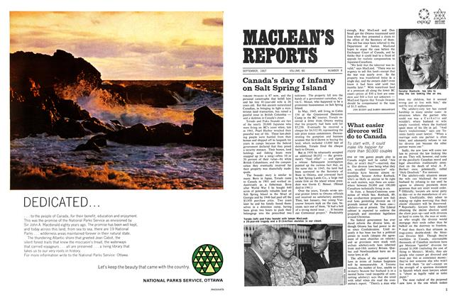 Article Preview: What easier divorce will do to Canada, September 1967 | Maclean's