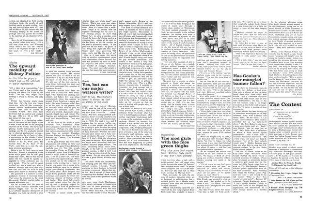 Article Preview: Yes, but can our major writers write?, September 1967 | Maclean's