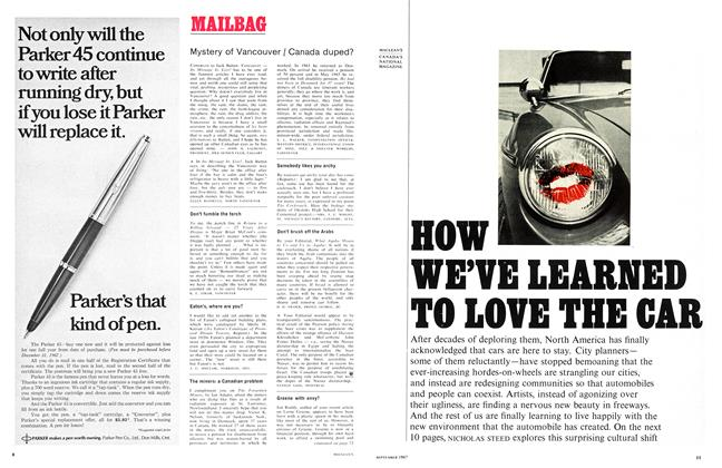 Article Preview: MAILBAG, September 1967 | Maclean's