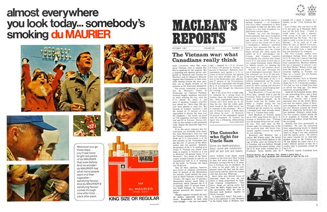 Article Preview: The Vietnam war: what Canadians really think, October 1967 | Maclean's