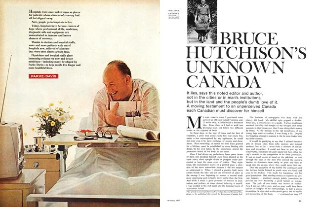 Article Preview: BRUCE HUTCHISON'S UNKNOWN CANADA, October 1967 | Maclean's