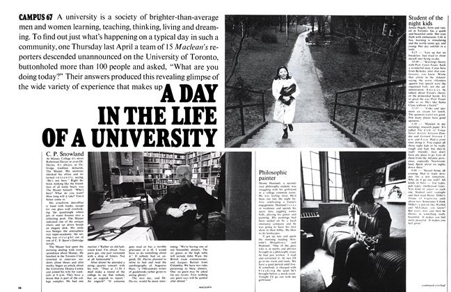 Article Preview: A DAY IN THE LIFE OF A UNIVERSITY, November 1967 | Maclean's