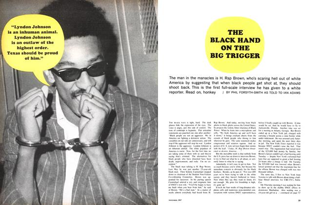 Article Preview: THE BLACK HAND ON THE BIG TRIGGER, November 1967 | Maclean's