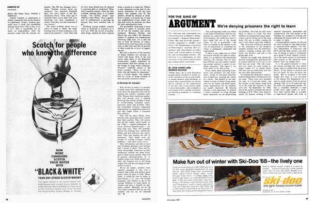 Article Preview: FOR THE SAKE OF ARGUMENT, November 1967 | Maclean's