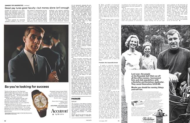 Article Preview: Soft sell, November 1967   Maclean's
