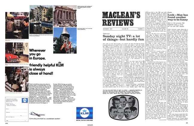 Article Preview: Sunday night TV: a lot of things—but hardly fun, November 1967 | Maclean's
