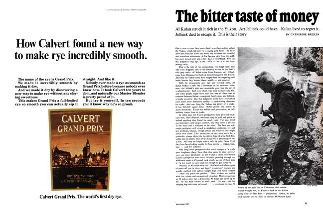 Article Preview: The bitter taste of money, December 1967 | Maclean's