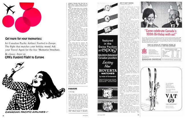 Article Preview: In the bag, December 1967 | Maclean's