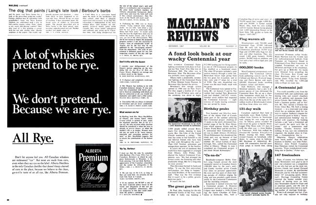 Article Preview: A fond look back at our wacky Centennial year, December 1967 | Maclean's