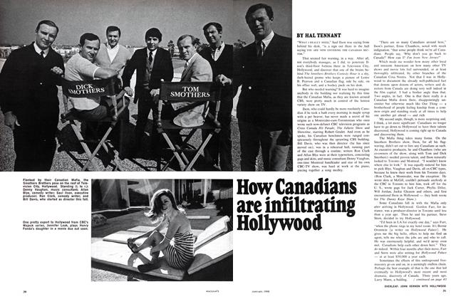 Article Preview: How Canadians are infiltrating Hollywood, January 1968 | Maclean's