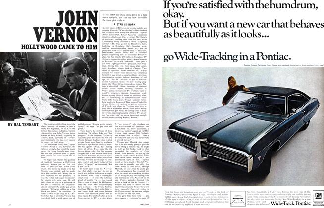 Article Preview: JOHN VERNON HOLLYWOOD CAME TO HIM, January 1968 | Maclean's