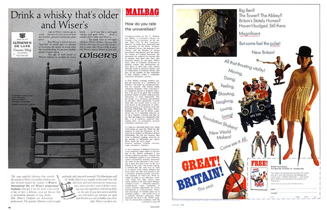 Article Preview: MAILBAG, January 1968 | Maclean's