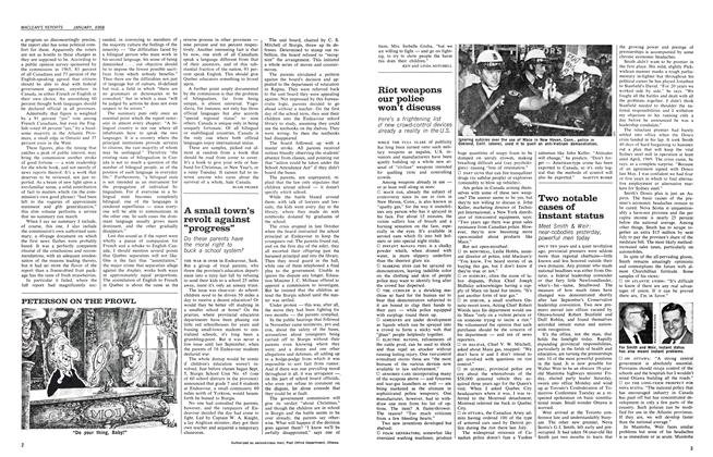 Article Preview: Two notable cases of instant status, January 1968 | Maclean's