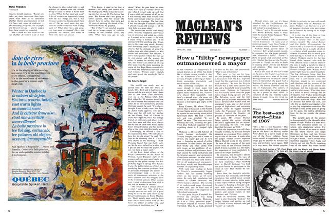 Article Preview: The best—and worst—films of 1967, January 1968 | Maclean's