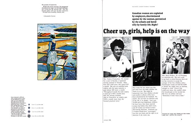 Article Preview: Cheer up, girls, help is on the way, January 1968 | Maclean's