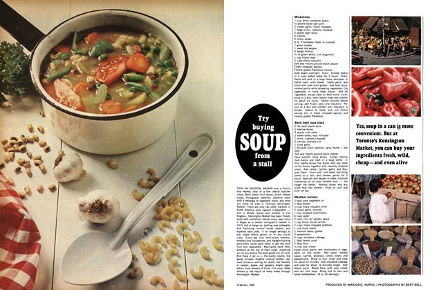 Article Preview: Try buying SOUP from a stall, February 1968 | Maclean's