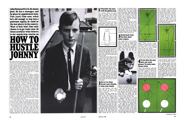 Article Preview: HOW TO HUSTLE JOHNNY, February 1968 | Maclean's