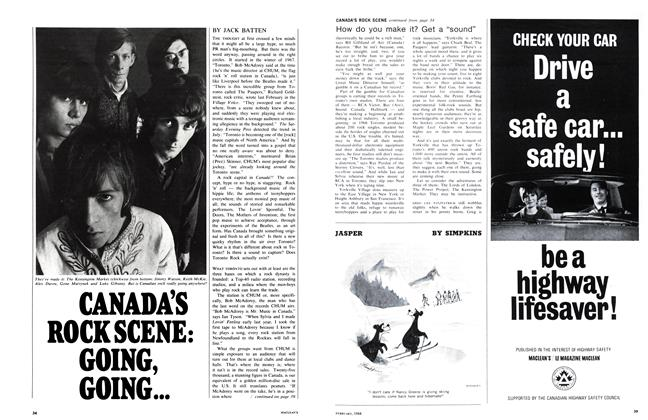 Article Preview: CANADA'S ROCK SCENE: GOING, GOING..., February 1968 | Maclean's