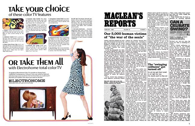 "Article Preview: The ""swinging celibates"" get turned off, February 1968 