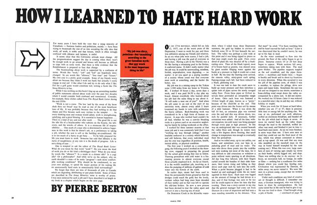 Article Preview: HOW I LEARNED TO HATE HARD WORK, March 1968 | Maclean's